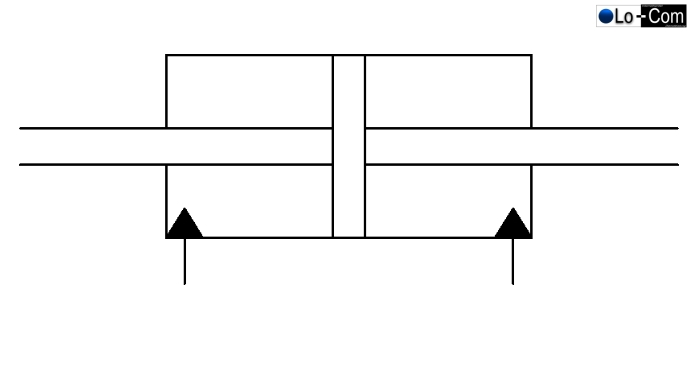 Gleichgangzylinder mit einer durchgehenden Kolbenstange
