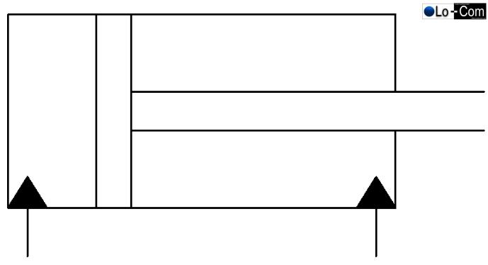 Doppeltwirkender Zylinder (Differentialzylinder) mit Kolbenstange